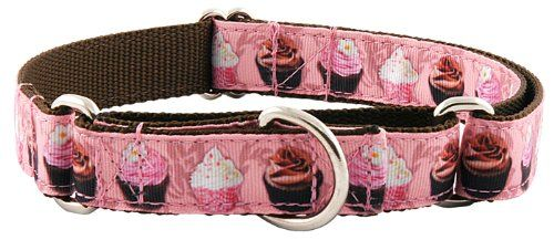 Country Brook Design Pink Cupcakes Designer Ribbon Martingale Dog CollarM -- See this great product.(This is an Amazon affiliate link and I receive a commission for the sales)