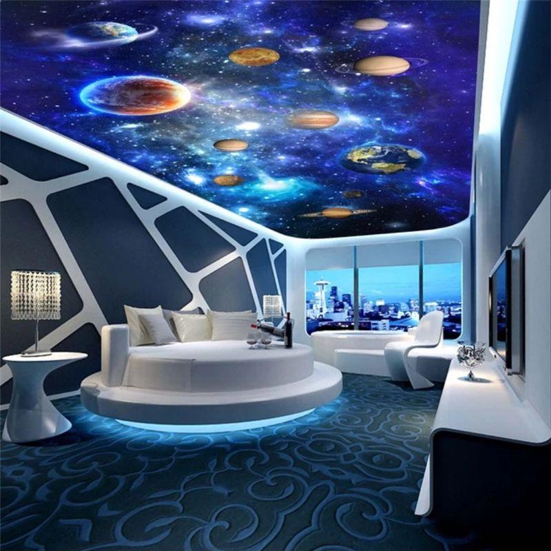 Beibehang Papel De Parede 3d Home Decoration 3d Wallpaper Cosmic