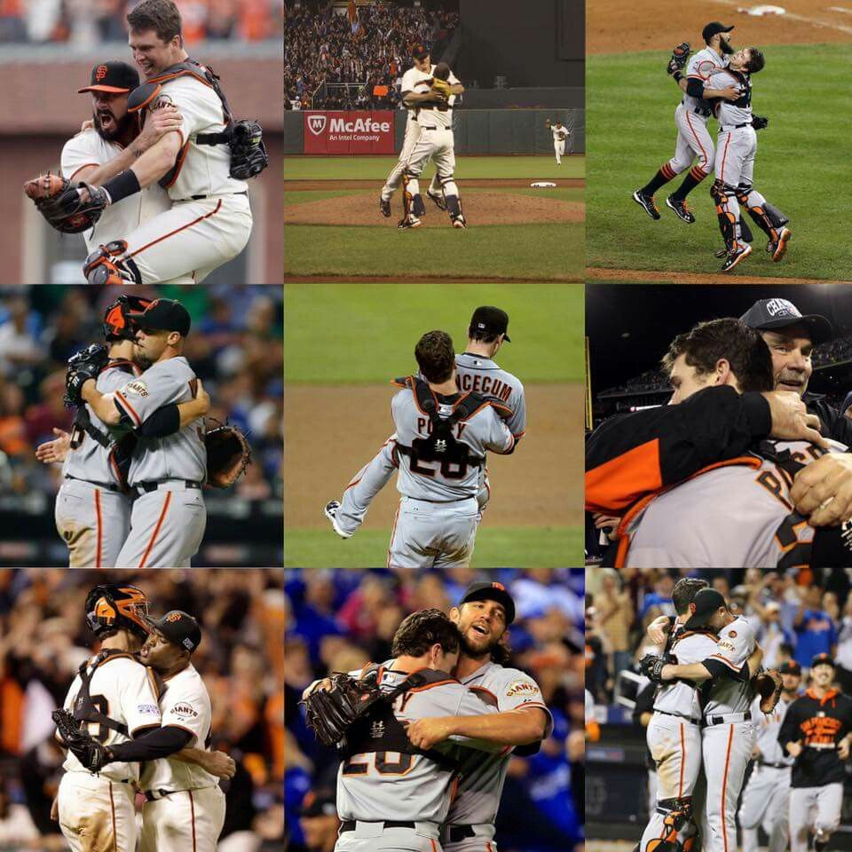Buster Posey Hugs San francisco giants, Buster posey