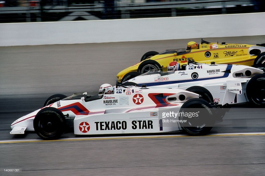 Rick Mears drives his Penske PC15 001/Chevrolet during the
