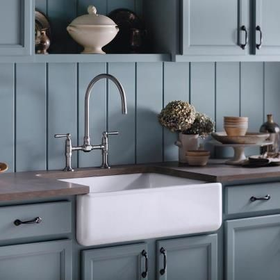 Kohler Farmhouse Sink And Faucet Jpg 403 403 Cast Iron Kitchen Sinks Kitchen Renovation Kitchen