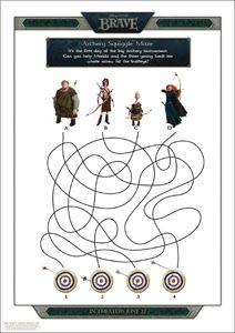 Disney/Pixar's BRAVE Printable Archery Maze