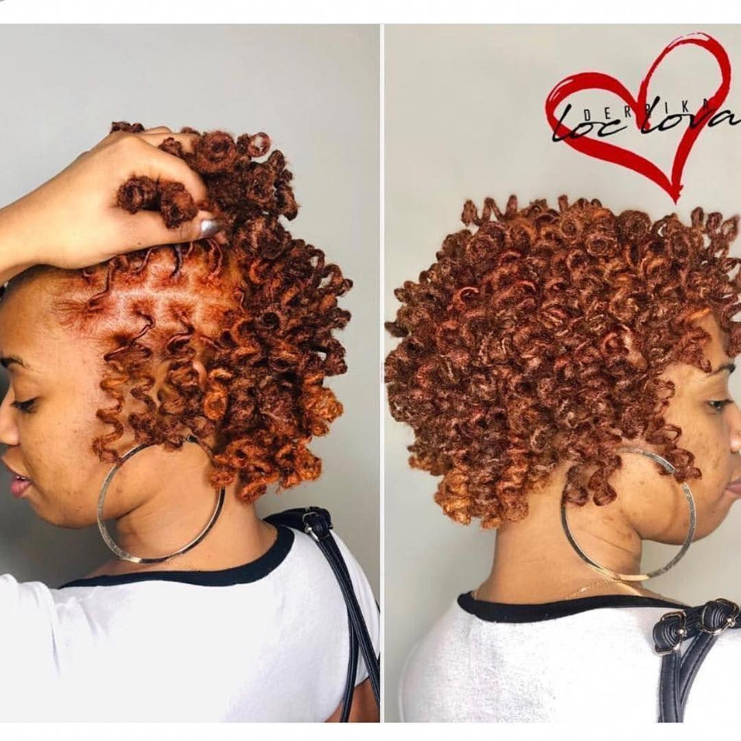 Makeup Hairstyles Women Short Locs Hairstyles For Women Short Short Goddess Faux Locs Loc Jew In 2020 Short Locs Hairstyles Natural Hair Styles Locs Hairstyles