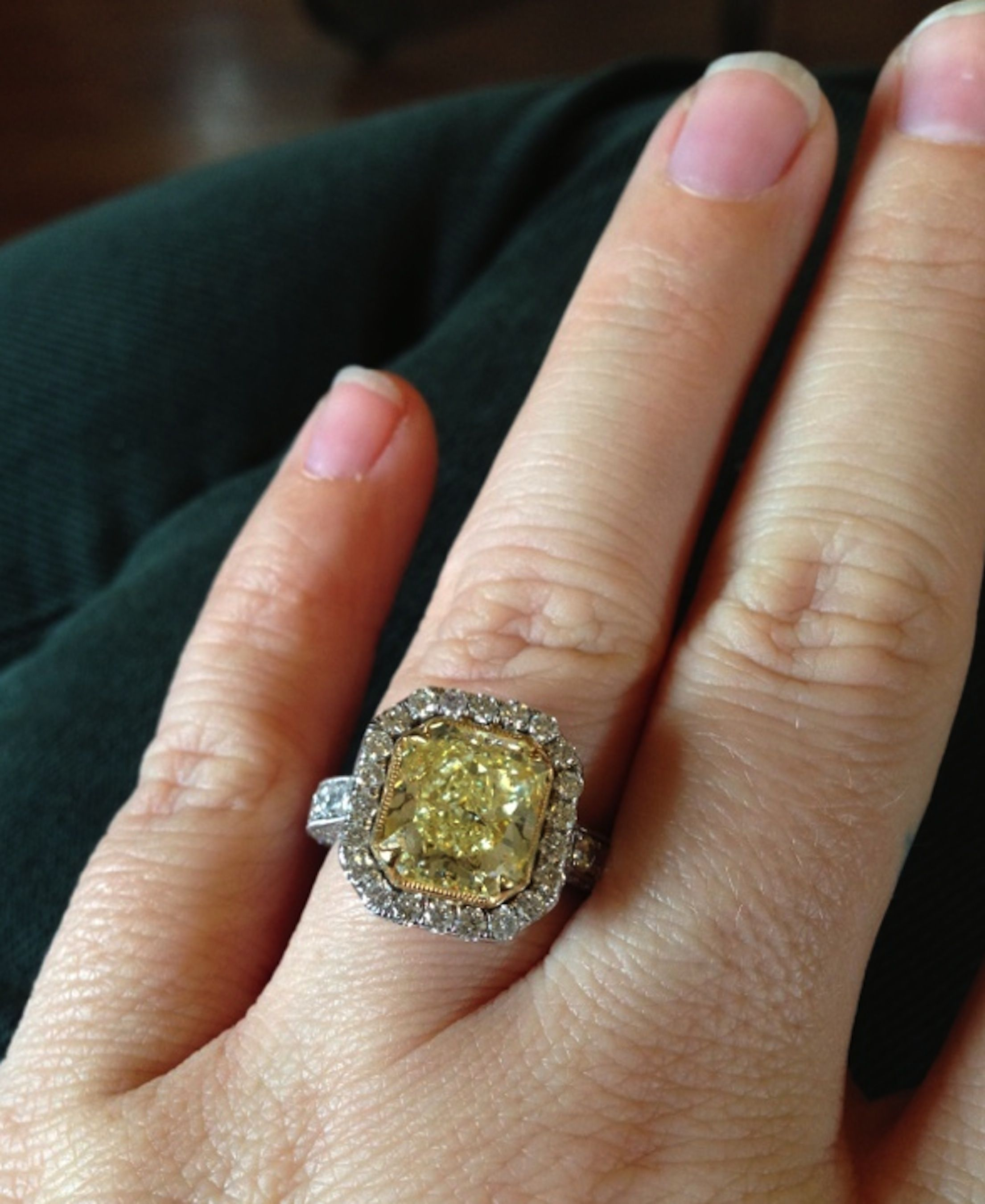 good canary engagement rings diamond perfect yellow