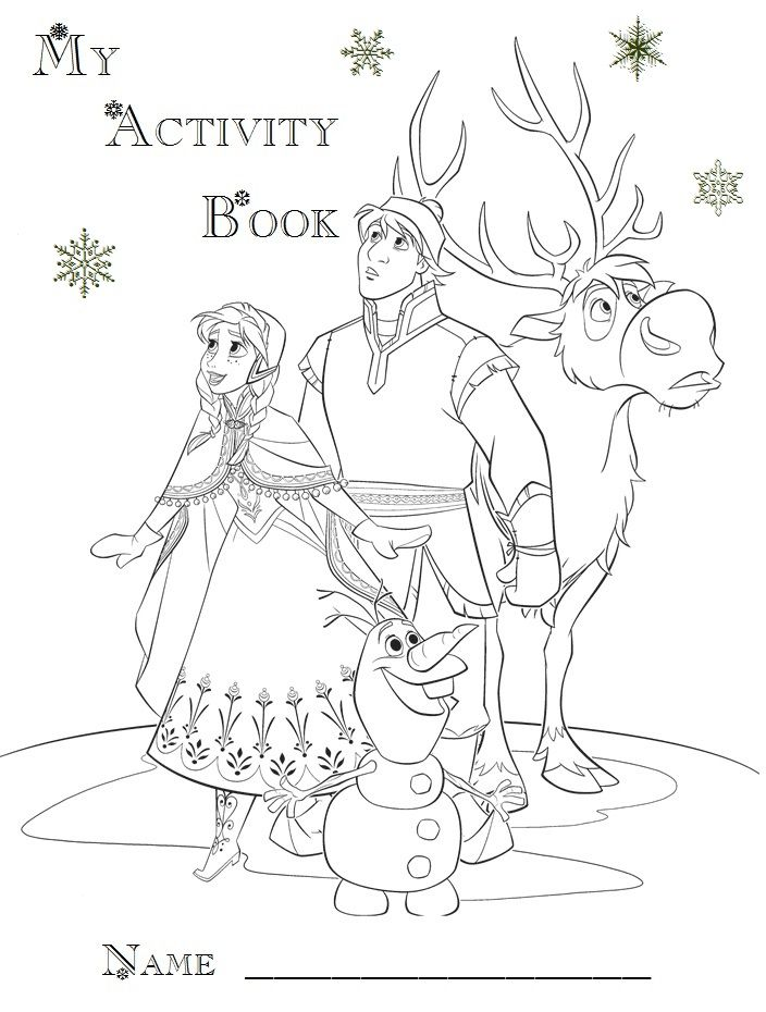 Printable Activity Booklet Cover Page | Frozen Birthday Printables ...