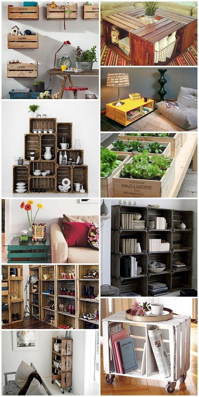 Como inserir caixotes e paletes na decoração in artworks diy