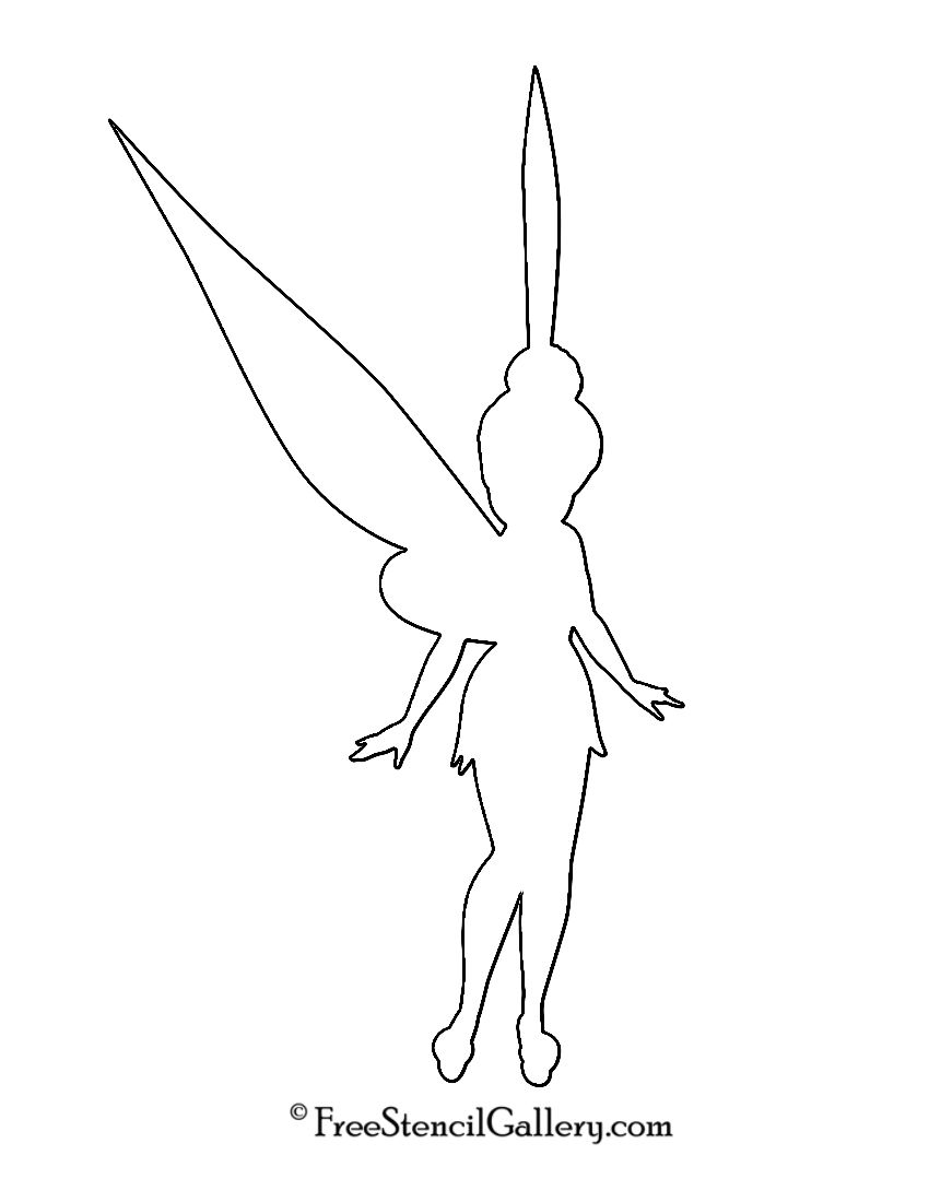 Tinkerbell Peter Pan Ausmalbilder : Tinkerbell Silhouette Stencil Tinkerbell Birthday Party