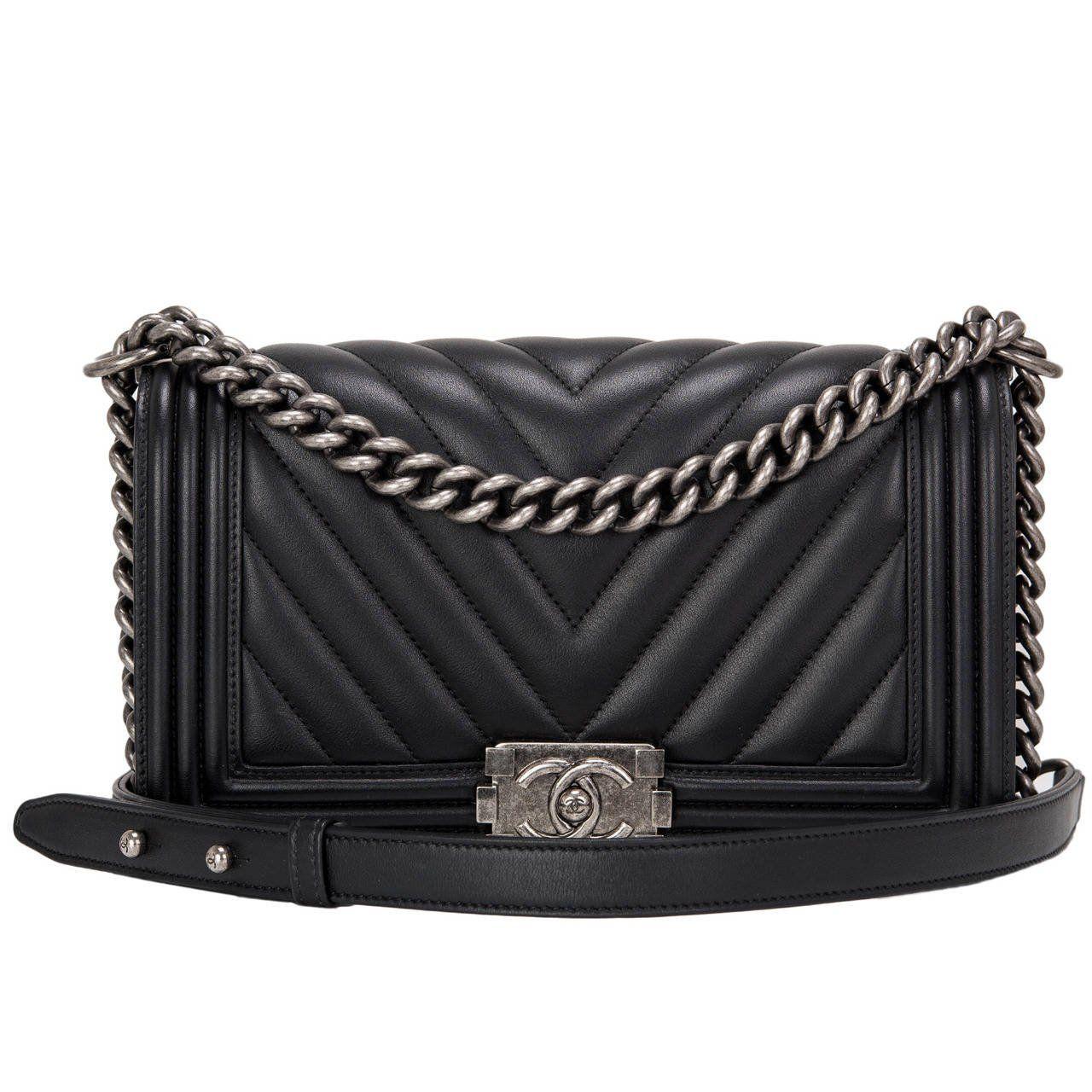 111fea3f7868 Chanel Black Caviar New Medium Boy Bag in 2019 | Luxe Love | Chanel boy bag  medium, Chanel black, Bags