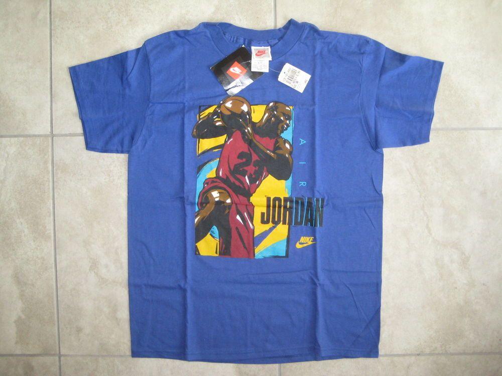 acd4676a NWT Vintage NIKE Air Michael Jordan Bulls White Label Blue Shirt Y-XL 14-16  / XS #MichaelJordan