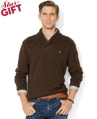 Polo Ralph Lauren French-Rib Shawl Sweater
