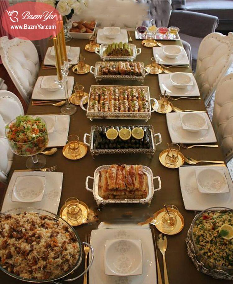 سفره افطاری بر روی میز Food Decoration Food Ramadan Recipes
