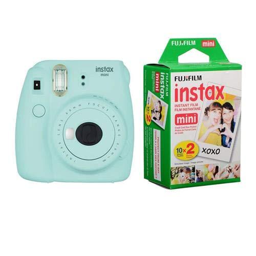 Fujifilm Instax Mini 9 Ice Blue Instant Camera With Mini Film Twin Pack Electronics Fujifilm Instax Instax Mini Fujifilm Instax Mini