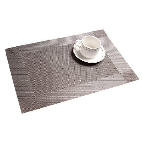 Table Mats Set Of 6 Egoera Place Mats Sets Table Place Dinner Mats Table Washable Plastic Vinyl Table Mats For D Dining Table In Kitchen Placemats Table Mats