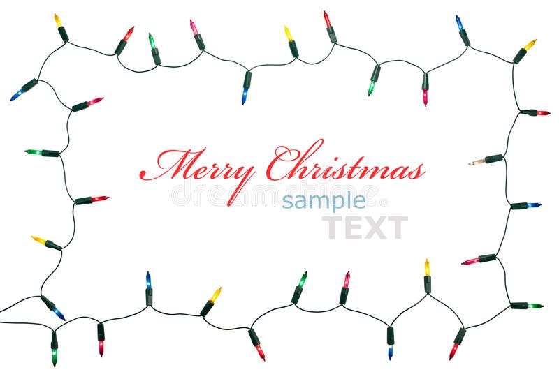 Christmas Lights Frame Isolated On White Background With Copy Space Decorative Spon Isolated White Fra Christmas Lights Christmas Text Garland Decor