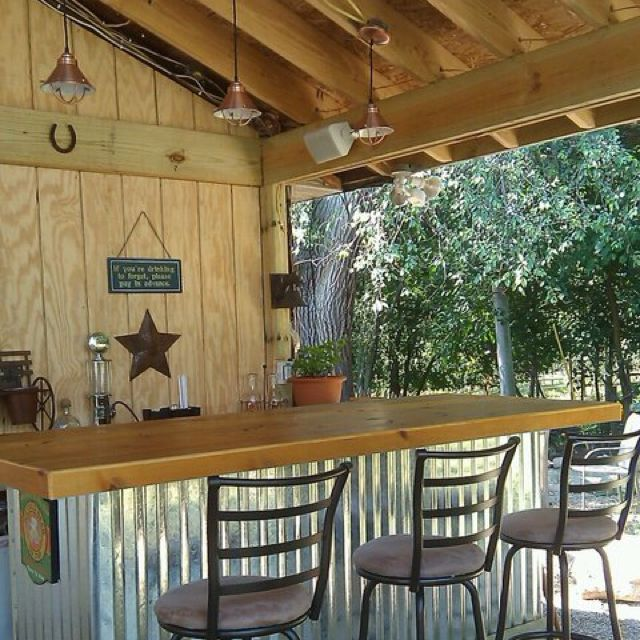 Outdoor Kitchen Bar: Deck And Bar- Steel To Cover Exposed Under Deck