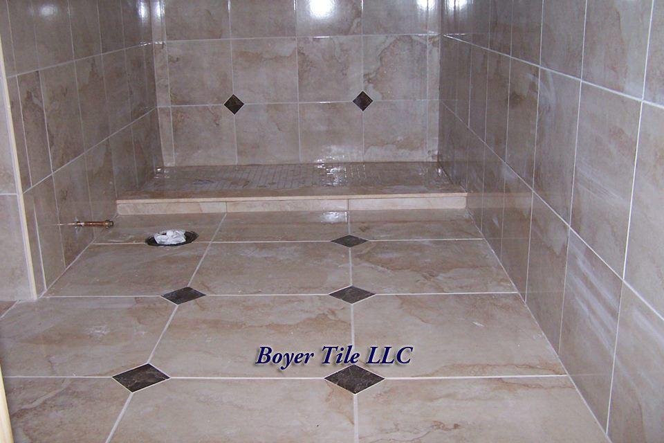Bathroom Floor Tile Installation Using Tight Set Rectified