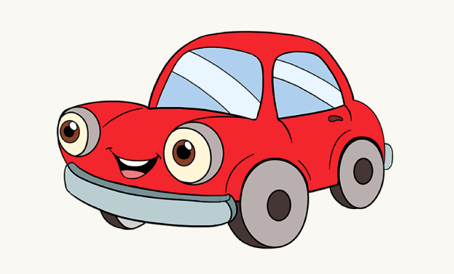 How To Draw A Cartoon Car Drawing Guide Cartoon And