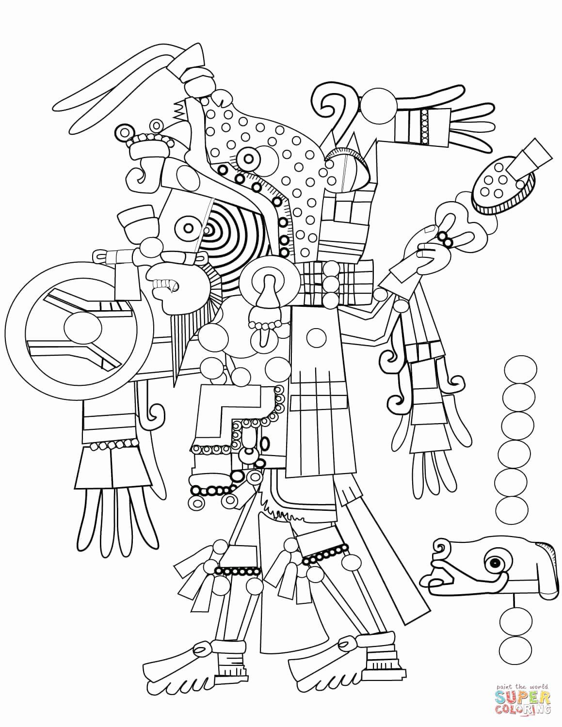 Christmas In Mexico Coloring Pages Fresh Mexico Coloring Pages In 2020 Aztec Art Art Coloring Pages