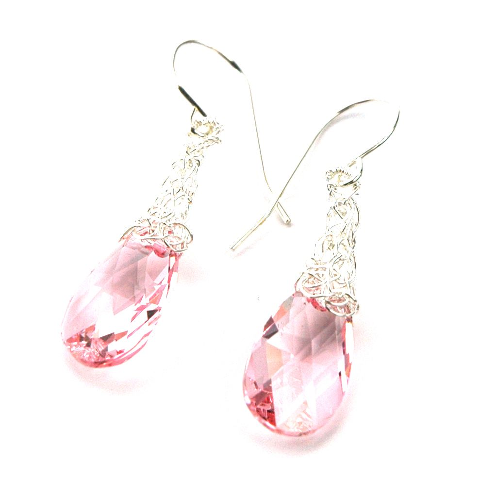 Swarovski Crystal EARRINGS | ... » Light rose Crystal ...