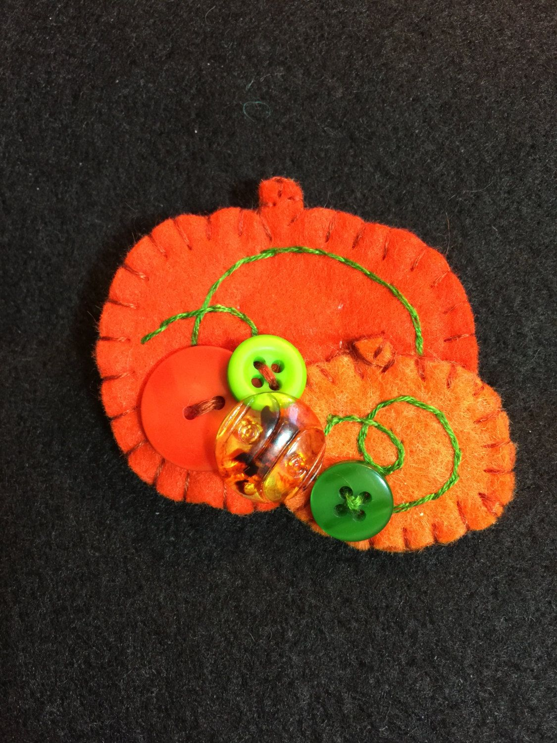 Pumpkin patch pin brooch by NoraKLovelyCreations on Etsy