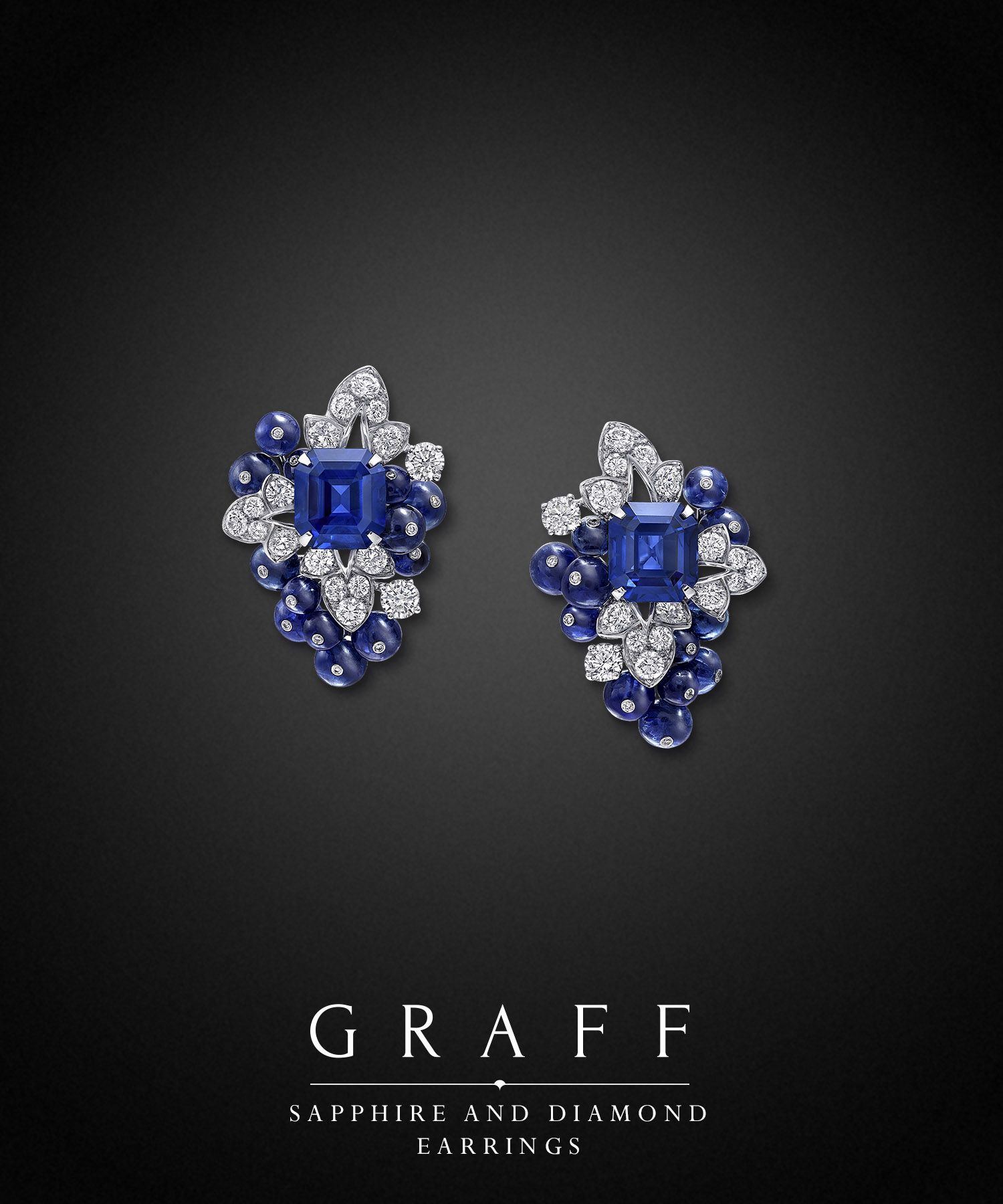 Sapphire And Diamond Earrings Graff Diamonds Sapphire And Diamond Earrings Graff Diamonds Earrings