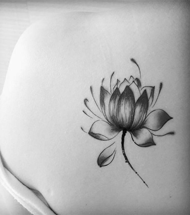 tatouage la fleur de lotus fleurs de lotus lotus et. Black Bedroom Furniture Sets. Home Design Ideas