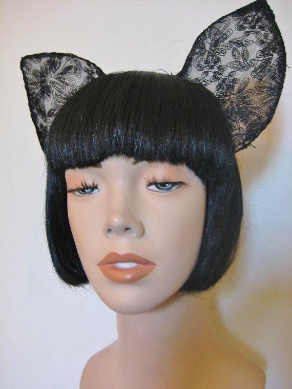 Flora Embroidered Bat Ears Headband