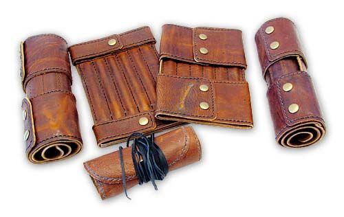 Neat pencil case ideas - leather