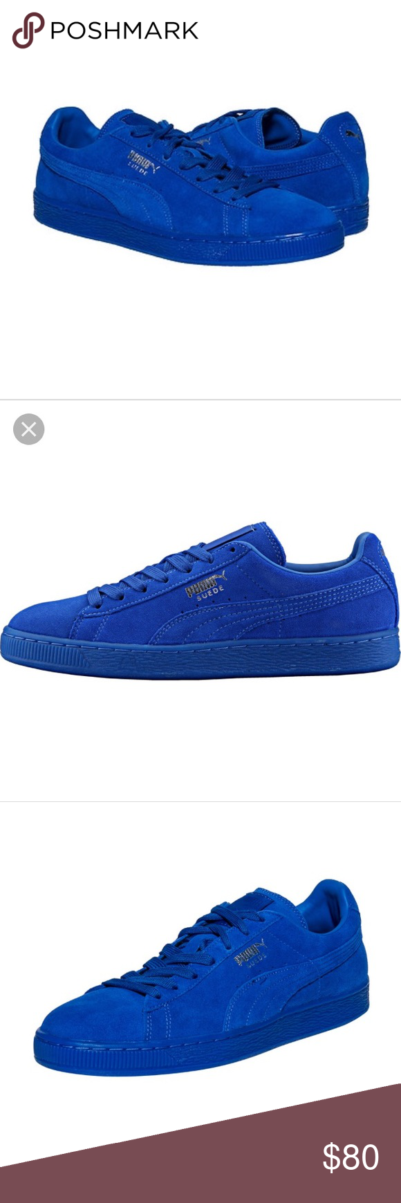 519c593f08b Puma classic suede ICED in royal blue This is a pair of Puma suede classic  ICED sneakers in royal blue. Worn only twice and only indoors