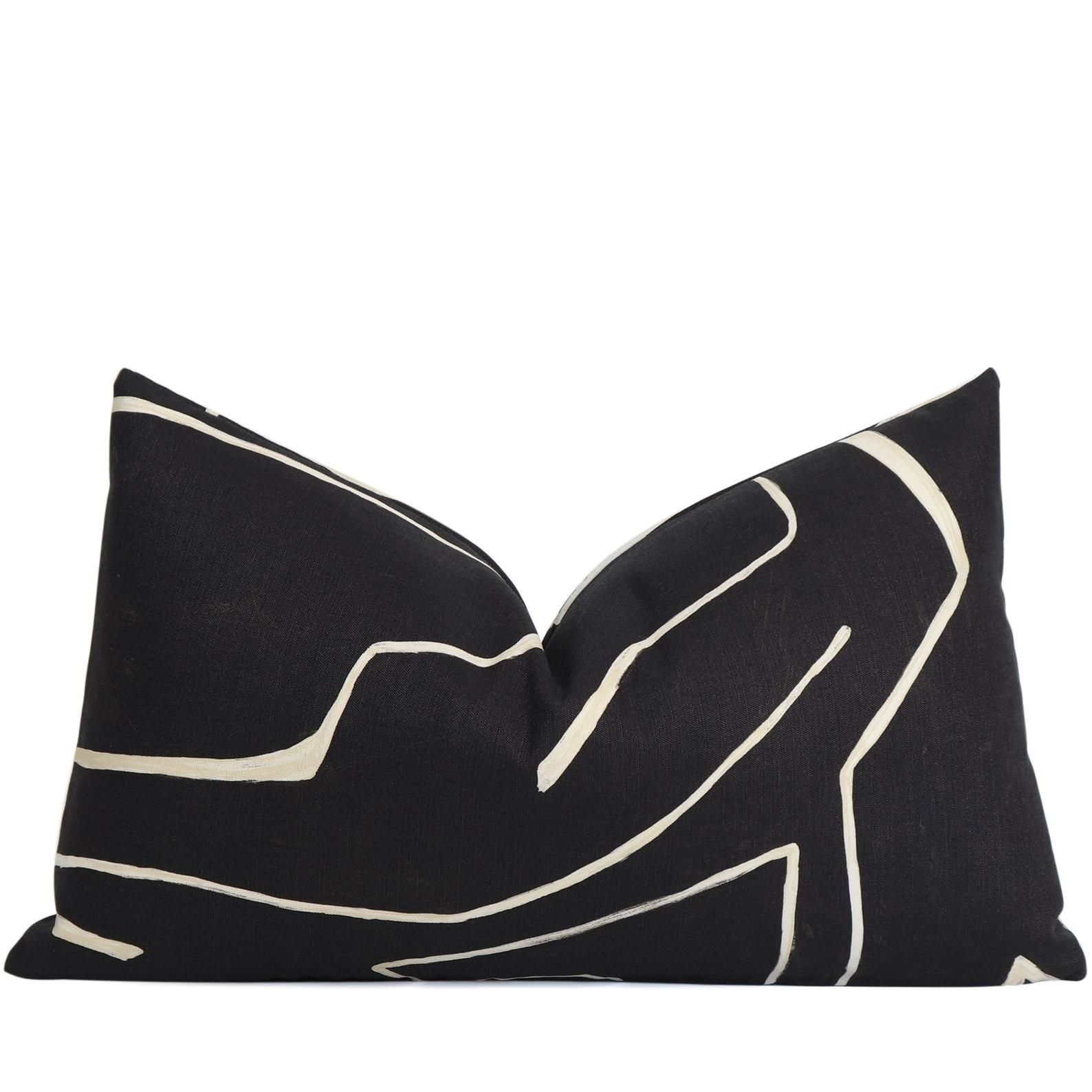 Black And Cream Kelly Wearstler Graffito Pillow Cover Ebony Etsy In 2020 Beige Pillow Covers Kelly Wearstler Pillow Covers
