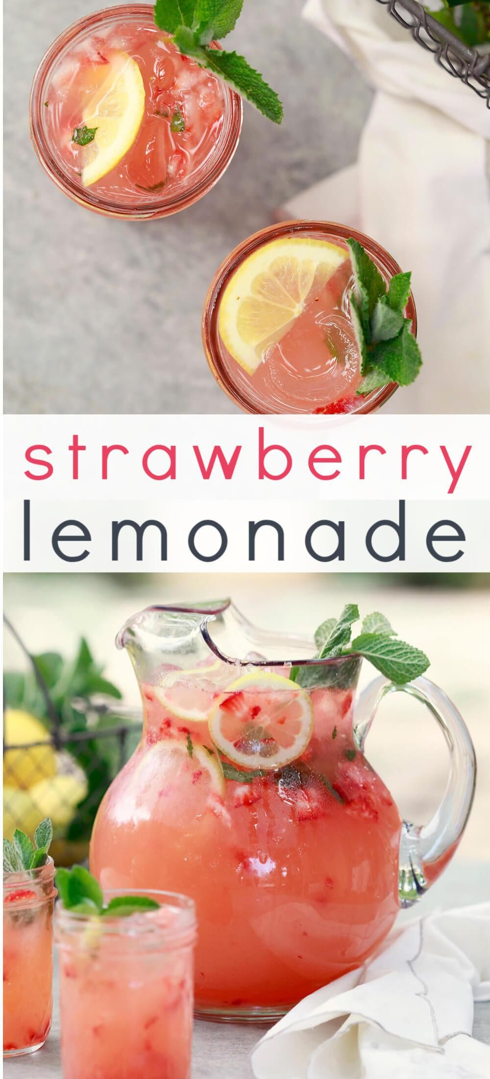 Homemade Strawberry Lemonade - Easy Blended Pink Lemonade Recipe