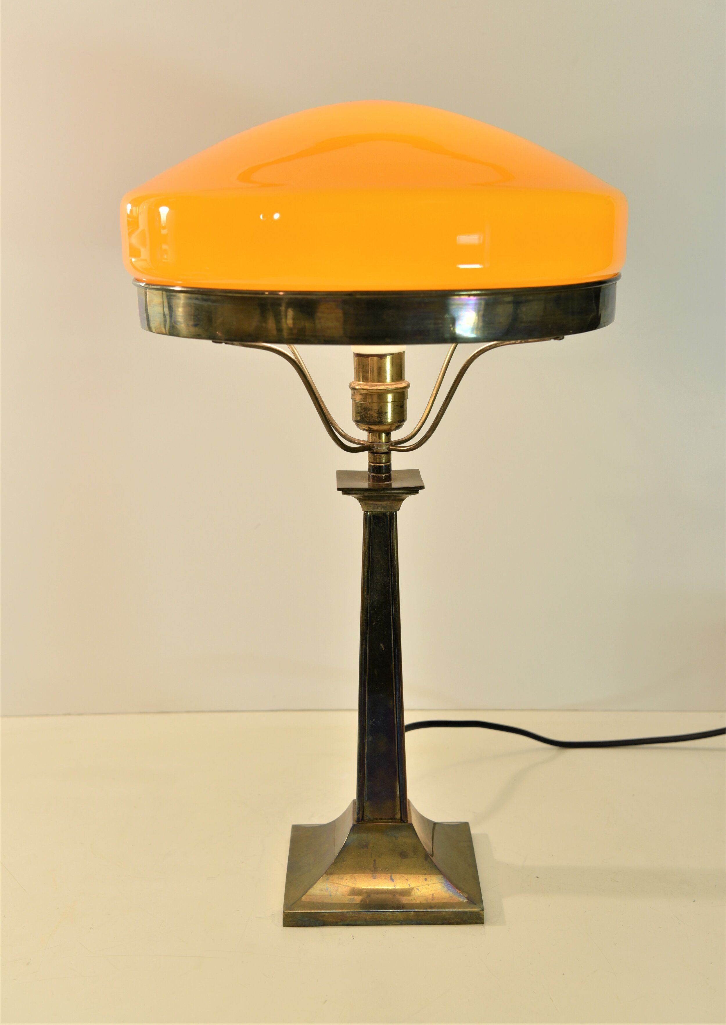 Large Swedish Art Deco Brass And Glass Table Lamp 1930 S Eclecticdesignstockholm In 2020 Glass Table Table Lamp Art Deco Table Lamps