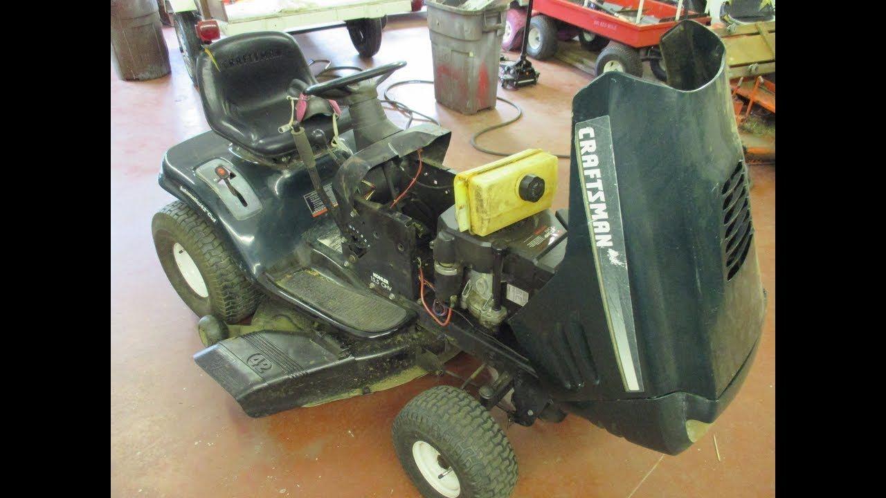 Sears Riding Mower Steering Gear Repair Lawn Mower Repair