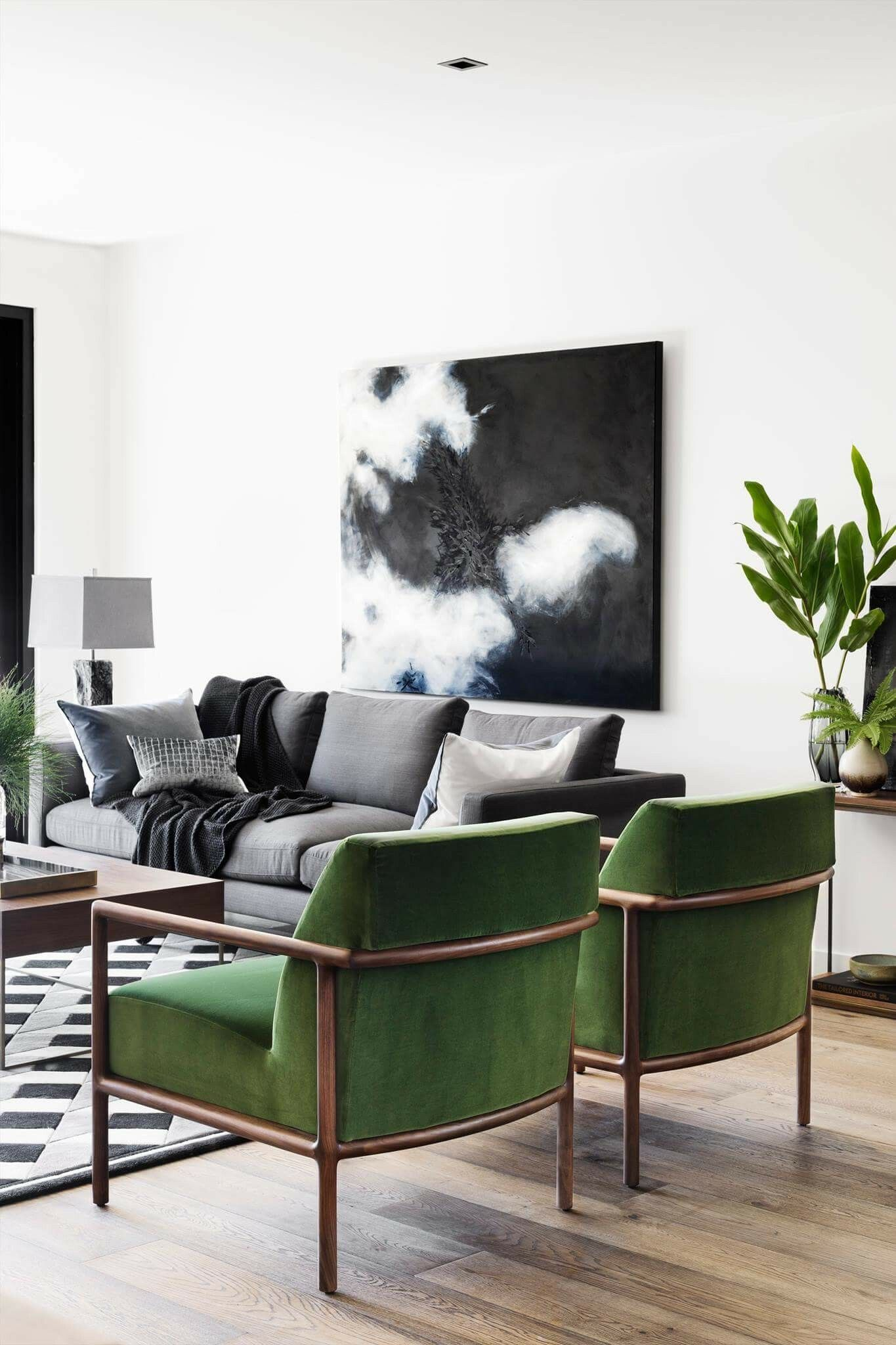 Grey Couch And Velvet Chairs With Images Living Room Color