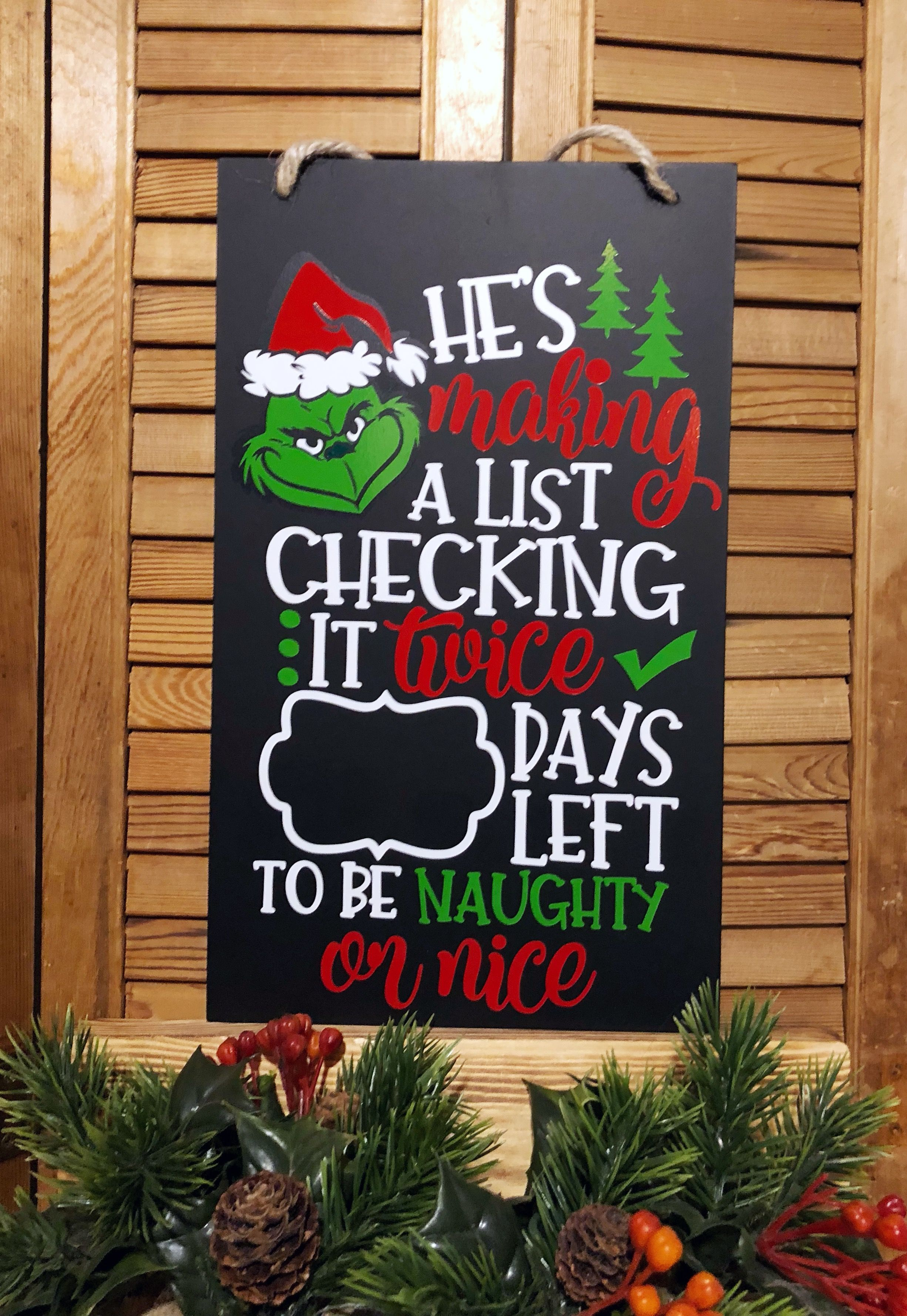 the grinch christmas countdown chalkboard
