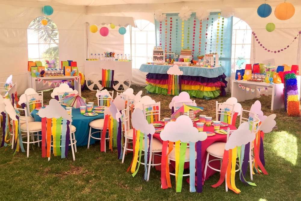 Martin and Agustina Rainbow Party  | CatchMyParty.com #littleunicorn