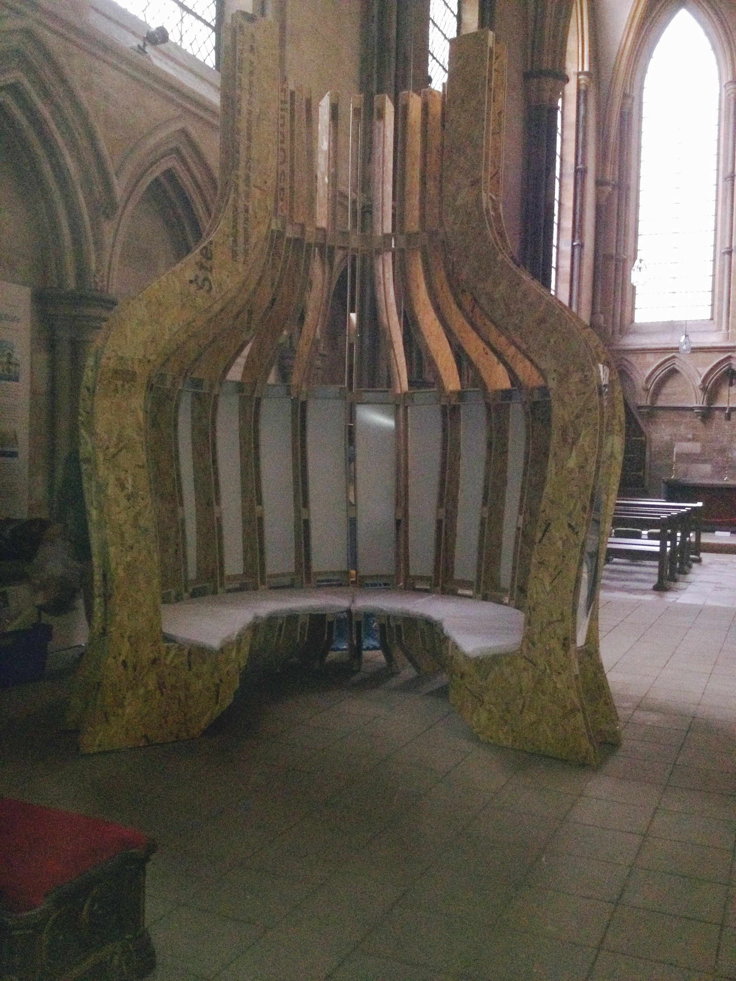 Competition winning design for a contemplation space inside Lincoln Cathedral for part of the Labyrinth festival taking part in August 2014.