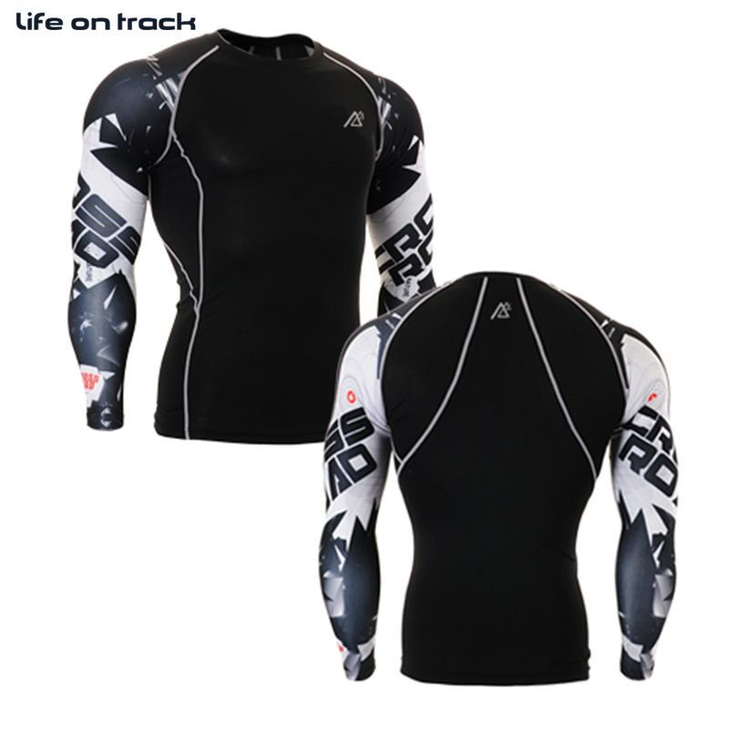 Men/'s Workout Compression Tops Gym Running Skin Base Layer Long Sleeve Jersey