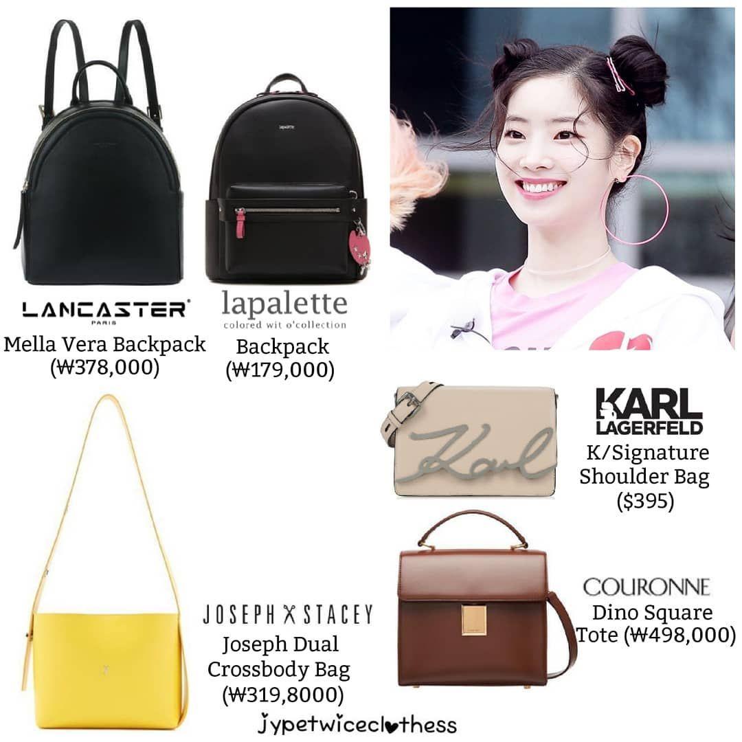 Twice S Fashion On Instagram Dahyun Bag Compilation Part 3 Lancaster Mella Vera Backpack 378 000 Lapalette Backpack 179 000 Joseph And St Tas Wanita