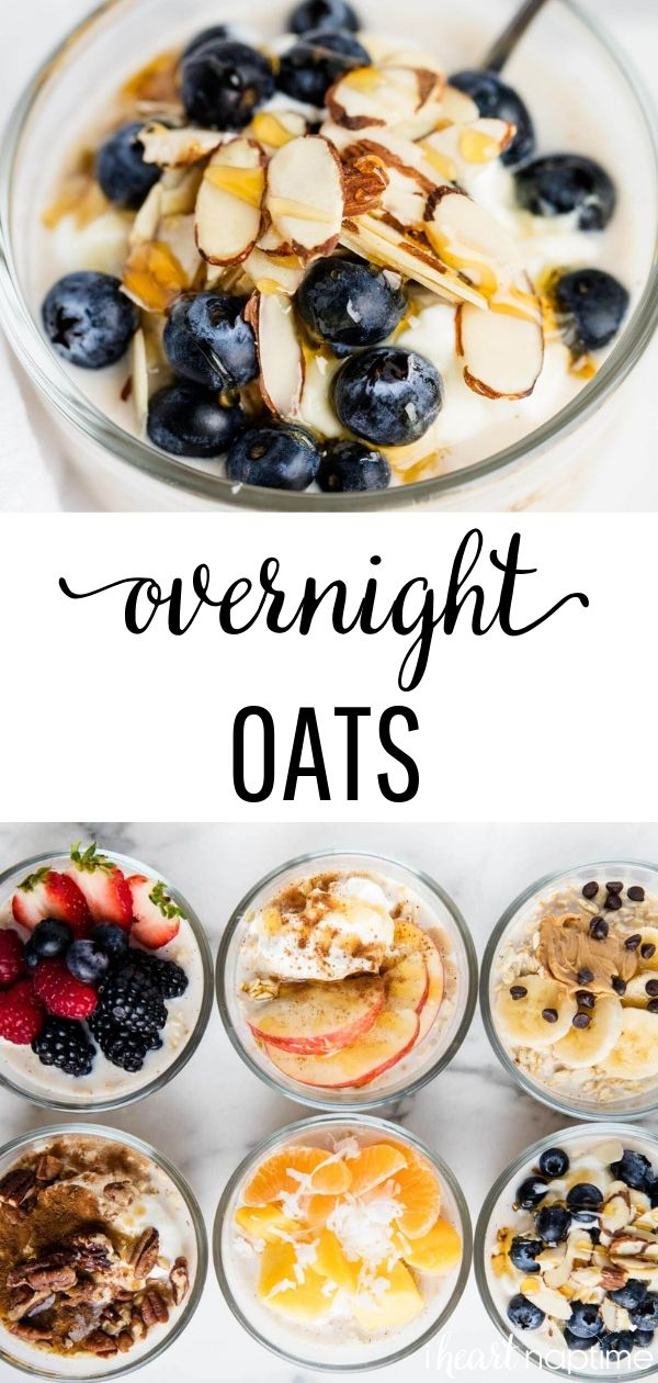 Overnight Oats (6 ways!) #healthycooking