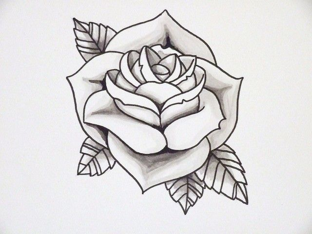 Neo-Traditional-Rose-Outline-Flower-Tattoo-Pictures-11059.jpg (640 ...
