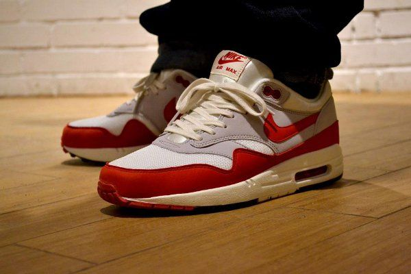 nike air max 1 og red and white 4s