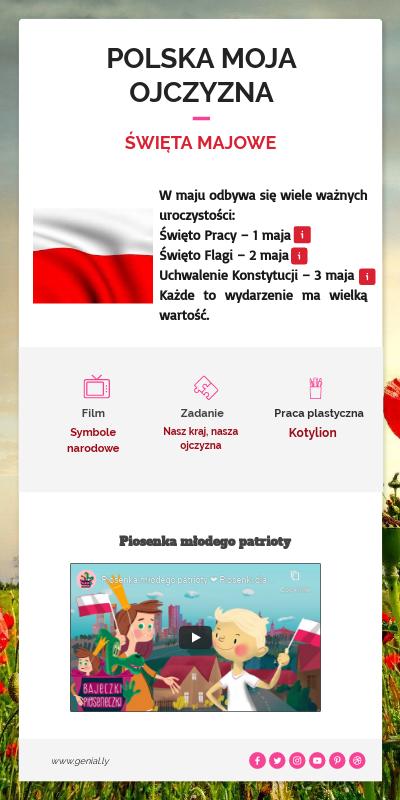 Discover More About Polska Moja Ojczyzna Generic Content Education Infographic Polska