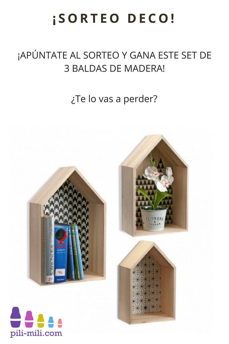 Sorteo Participa Y Gana Este Set De 3 Originales Baldas De Madera - Baldas-originales