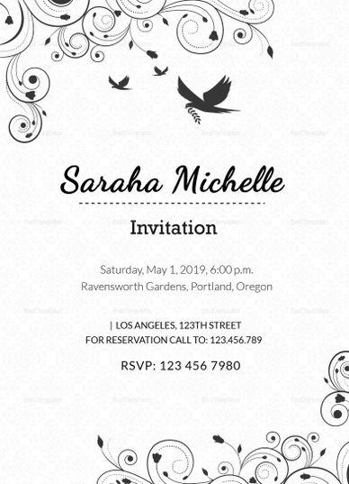 Pin On Invitation Card Templates