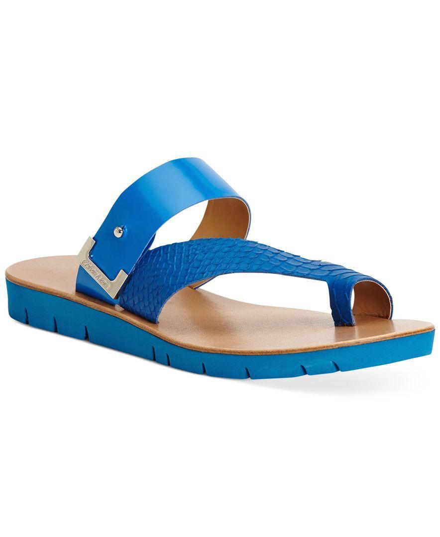 fdbf53e3575c Calvin Klein Women s Pax Assymetical Sandals - Sandals - Shoes - Macy s