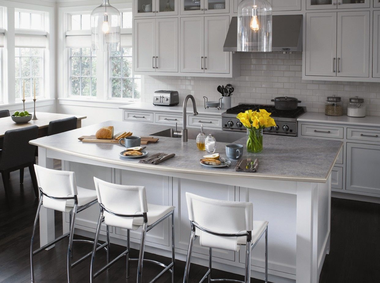 Ready Made Countertops : Living triangle kitchen with formica laminate in