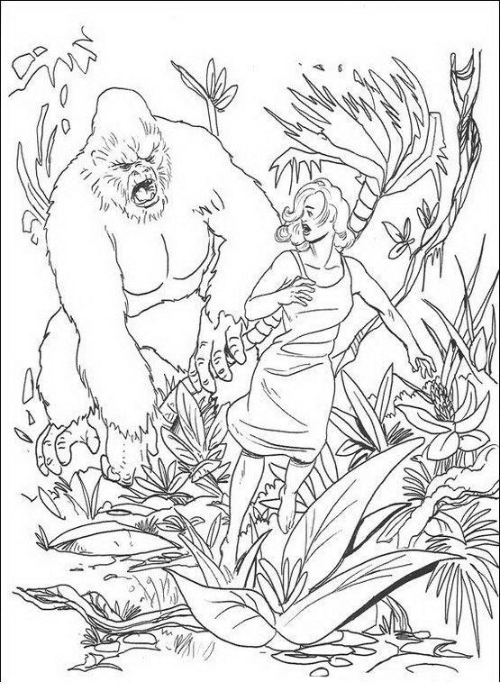 King Kong Coloring Pages For Kids Printable Online 6 Malvorlagen