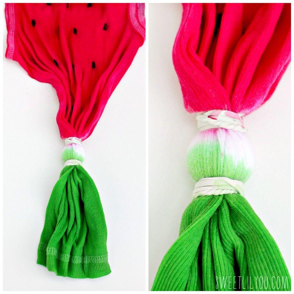 Watermelon Tie Dye Tee Sweet Lil You Tie Dye Diy Diy Tie Dye Shirts Tie Dye Patterns Diy