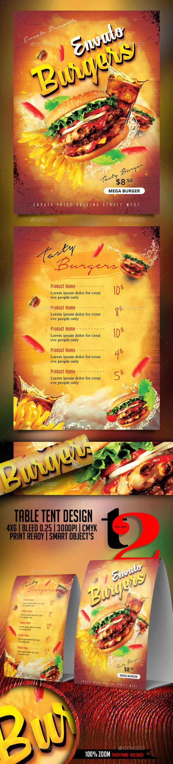 pin by alison ana on burger flyer pinterest flyer template